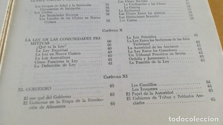 Libros de segunda mano: ANTROPOLOGIA SIMPLIFICADA - JOHN LEWIS - CIA GENERAL EDICIONES MEXICO X 102 - Foto 13 - 219890151