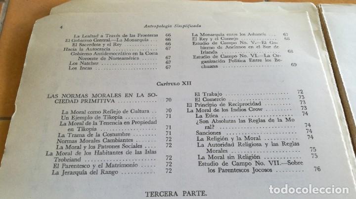 Libros de segunda mano: ANTROPOLOGIA SIMPLIFICADA - JOHN LEWIS - CIA GENERAL EDICIONES MEXICO X 102 - Foto 14 - 219890151