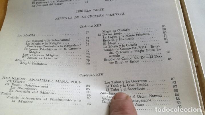 Libros de segunda mano: ANTROPOLOGIA SIMPLIFICADA - JOHN LEWIS - CIA GENERAL EDICIONES MEXICO X 102 - Foto 16 - 219890151