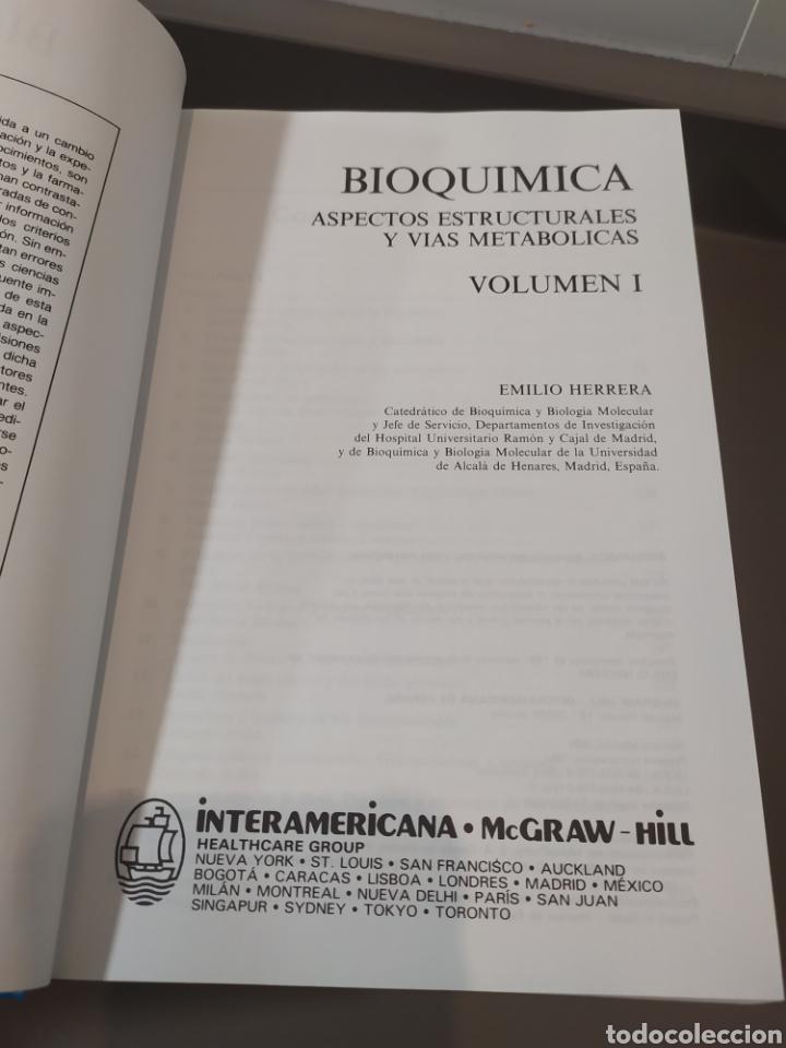 Libros de segunda mano de Ciencias: BIOQUÍMICA, BIOLOGÍA MOLECULAR Y BIOQUÍMICA FISIOLÓGICA. 2 VOLÚMENES. EMILIO HERRERA - McGRAW-HILL - Foto 5 - 220124780