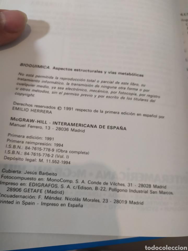 Libros de segunda mano de Ciencias: BIOQUÍMICA, BIOLOGÍA MOLECULAR Y BIOQUÍMICA FISIOLÓGICA. 2 VOLÚMENES. EMILIO HERRERA - McGRAW-HILL - Foto 6 - 220124780