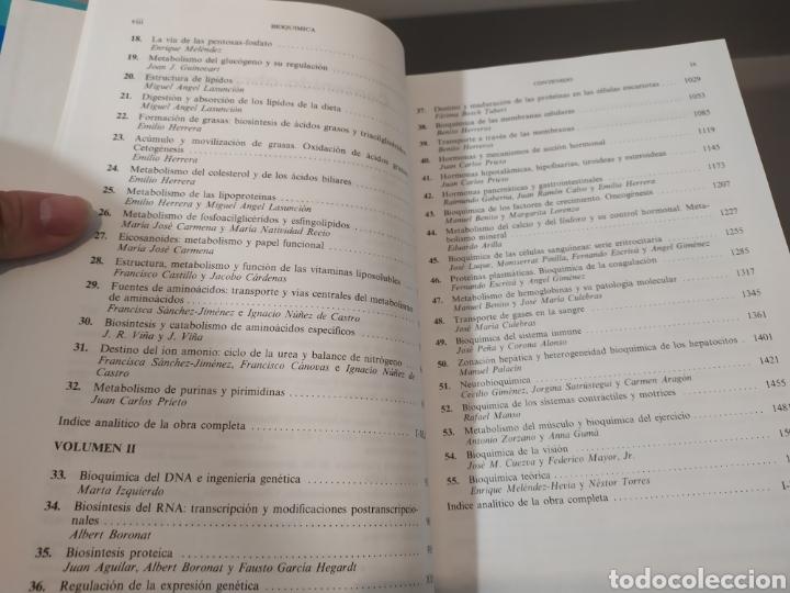 Libros de segunda mano de Ciencias: BIOQUÍMICA, BIOLOGÍA MOLECULAR Y BIOQUÍMICA FISIOLÓGICA. 2 VOLÚMENES. EMILIO HERRERA - McGRAW-HILL - Foto 8 - 220124780