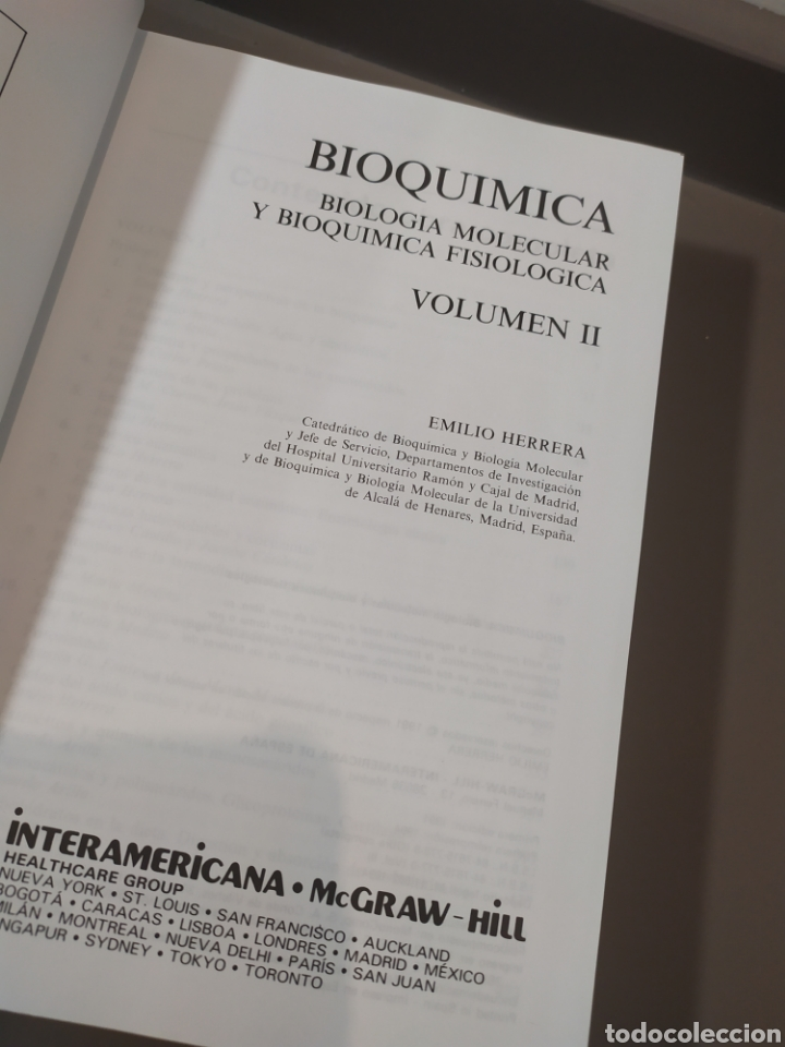 Libros de segunda mano de Ciencias: BIOQUÍMICA, BIOLOGÍA MOLECULAR Y BIOQUÍMICA FISIOLÓGICA. 2 VOLÚMENES. EMILIO HERRERA - McGRAW-HILL - Foto 19 - 220124780
