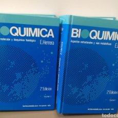 Libros de segunda mano de Ciencias: BIOQUÍMICA, BIOLOGÍA MOLECULAR Y BIOQUÍMICA FISIOLÓGICA. 2 VOLÚMENES. EMILIO HERRERA - MCGRAW-HILL. Lote 220124780