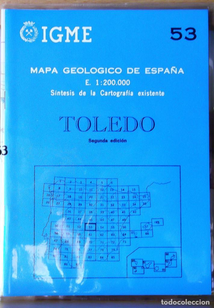 MAPA GEOLÓGICO DE ESPAÑA. TOLEDO. VARIOS. INST. GEOLÓG. Y MINERO DE ESPAÑA 1986 ESTADO: COMO NUEVO 2 (Libros de Segunda Mano - Ciencias, Manuales y Oficios - Paleontología y Geología)