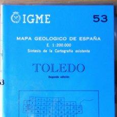 Libros de segunda mano: MAPA GEOLÓGICO DE ESPAÑA. TOLEDO. VARIOS. INST. GEOLÓG. Y MINERO DE ESPAÑA 1986 ESTADO: COMO NUEVO 2. Lote 221479097