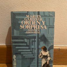 Libros de segunda mano de Ciencias: MARTIN GARDNER ORDEN Y SORPRESA. Lote 221731973