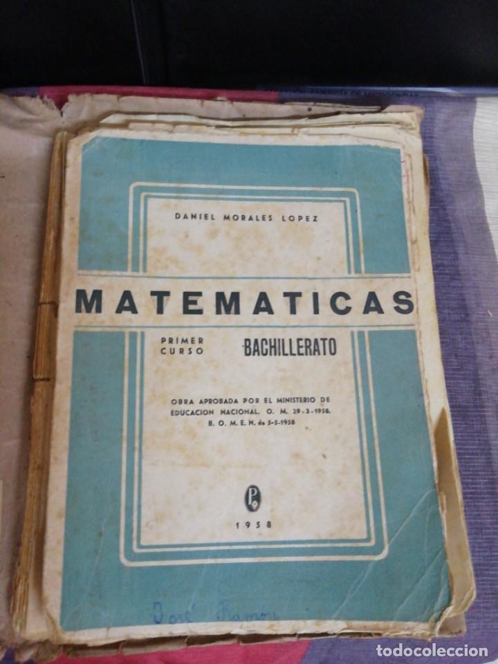 MATEMÁTICAS PRIMER CURSO BACHILLERATO AÑO 1958/EDITORIAL PRIETO GRANADA (Libros de Segunda Mano - Ciencias, Manuales y Oficios - Física, Química y Matemáticas)