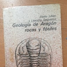 Libros de segunda mano: GEOLOGIA DE ARAGON ROCAS Y FOSILES, ELADIO LIÑAN Y LEANDRO SEQUEIROS. Lote 222004908