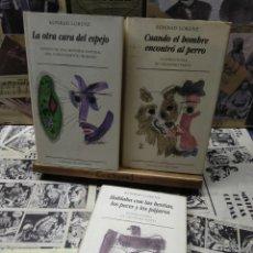Libros de segunda mano: 003. KONRAD LORENZ . 3 LIBROS. Lote 222329411
