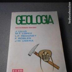 Libros de segunda mano: GEOLOGIA. Lote 222370768