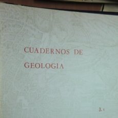 Libros de segunda mano: CUADERNOS DE GEOLOGÍA 3.1 - 1972 UNIVERSIDAD DE GRANADA. Lote 223357911