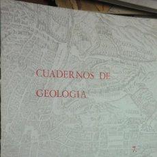 Libros de segunda mano: CUADERNOS DE GEOLOGÍA 7 - 1976 UNIVERSIDAD DE GRANADA. Lote 223358162