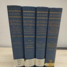 Libros de segunda mano de Ciencias: 4 TOMOS QUÍMICA GENERAL. APLICADA A LA INDUSTRIA CON PRÁCTICAS DE LABORATORIO. DR.CALVET. 1962.. Lote 224417833