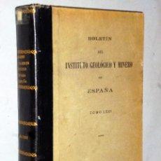 Livros em segunda mão: BOLETÍN DEL INSTITUTO GEOLÓGICO Y MINERO DE ESPAÑA. TOMO LXIII. Lote 224633573