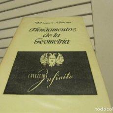 Libri di seconda mano: FUNDAMENTOS DE LA GEOMETRÍA - H. POINCARÉ Y A. EINSTEIN FACSIMIL?. Lote 224779812