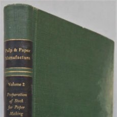 Livros em segunda mão: INTRODUCTION TO STUFF PREPARATION FOR PAPER MAKING.. Lote 225591250