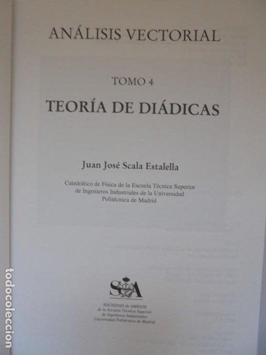 Libros de segunda mano de Ciencias: ANALISIS VECTORIAL. TOMO 4. TEORIA DE DIADICAS. JUAN JOSE ESTALELLA. EDITORIAL SOCIEDAD DE AMIGOS - Foto 7 - 226675600