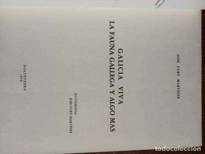 Libros de segunda mano: GALICIA VIVA. LA FAUNA GALLEGA Y ALGO MAS/ JOSE CURT MARTINEZ. - Foto 3 - 226845279