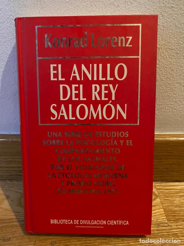 EL ANILLO DEL REY SALOMÓN KONRAD LORENZ (Libros de Segunda Mano - Ciencias, Manuales y Oficios - Biología y Botánica)