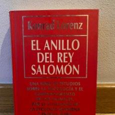 Livres d'occasion: EL ANILLO DEL REY SALOMÓN KONRAD LORENZ. Lote 227021345