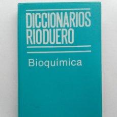 Libri di seconda mano: DICCIONARIOS RIODUERO. BIOQUIMICA. ALVARO ALVAREZ DE CERVERO. 1982. Lote 227857850