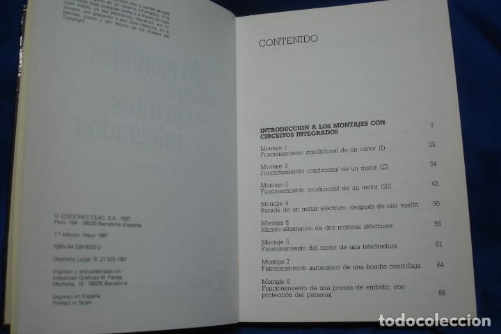 Libros de segunda mano de Ciencias: 20 MONTAJES INDUSTRIALES CON CIRCUITOS INTEGRADOS - JOSÉ RAMÍREZ - ED. CEAC 1ª EDICIÓN 1987 - Foto 2 - 230195740