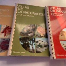 Libros de segunda mano: ATLAS DE GEOLOGÍA, DE LA NATURALEZA, DEL CUERPO HUMANO,. Lote 233263875