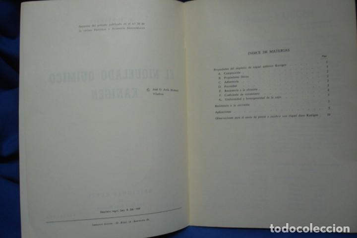 Libros de segunda mano de Ciencias: EL NIQUELADO QUÍMICO KANIGEN - R. FONTANALS - ED. CEDEL 1965 - Foto 2 - 233594145