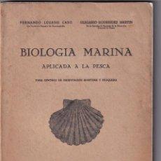 Libros de segunda mano: BIOLOGÍA MARINA APLICADA A LA PESCA - 1945. Lote 233768730