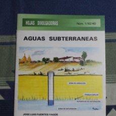 Libros de segunda mano: AGUAS SUBTERRANEAS. Lote 234318500