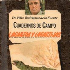 Livres d'occasion: CUADERNOS DE CAMPO FÉLIX RODRÍGUEZ DE LA FUENTE N° 20, LAGARTOS Y LAGARTIJAS. Lote 234542905