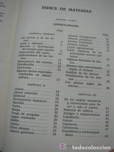 Libros de segunda mano: HORTICULTURA Y FRUTICULTURA-ROGELIO PEÑA-3ª. EDC.- JOSÉ MONTESÓ, EDT.- 1955-BAR.-VER FOTOS. - Foto 11 - 234917025