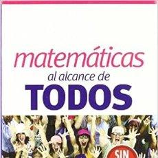 Libros de segunda mano de Ciencias: MATEMÁTICAS AL ALCANCE DE TODOS. JUAN MARGALEF Y ENRIQUE OUTERELO. SIN DEMASIADAS ECUACIONES. PEARSO. Lote 235853860