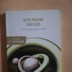 Libros de segunda mano de Ciencias: SEIS PIEZAS FACILES. LA FISICA EXPLICADA POR UN GENIO. RICHARD P. FEYNMAN. DRAKONTOS BOLSILLO. 2008.. Lote 277641023