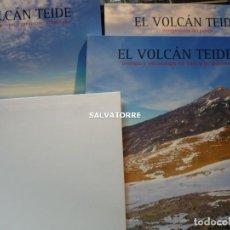 Libros de segunda mano: EL VOLCAN TEIDE. TRES TOMOS. VOLCANOLOGIA.GEOLOGIA.PAISAJE.ERUPCIONES.CON PLANO.IMPECABLE. Lote 236551530