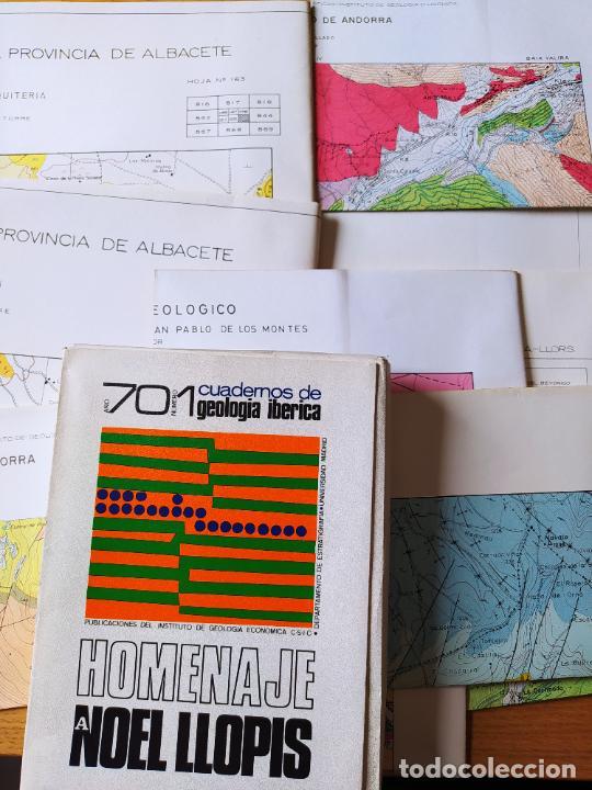 CAJA CON 11 PLANOS GEOLOGICOS DE (Libros de Segunda Mano - Ciencias, Manuales y Oficios - Paleontología y Geología)