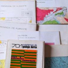 Libros de segunda mano: CAJA CON 11 PLANOS GEOLOGICOS DE. Lote 239385030