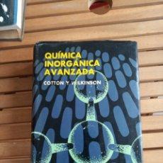 Libros de segunda mano de Ciencias: QUÍMICA INORGÁNICA AVANZADA - ,COTTON Y WILKINSON. Lote 239541950