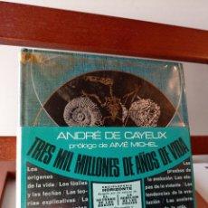 Libros de segunda mano: TRES MIL MILLONES DE AÑOS SE VIDA . ENVÍO CERTIFICADO 4.99.. Lote 240190115