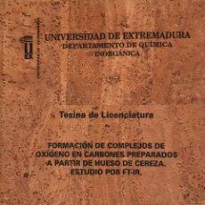 Libros de segunda mano de Ciencias: TESINA DE LICENCIATURA. UNIVERSIDAD DE EXTREMADURA.. Lote 241439030