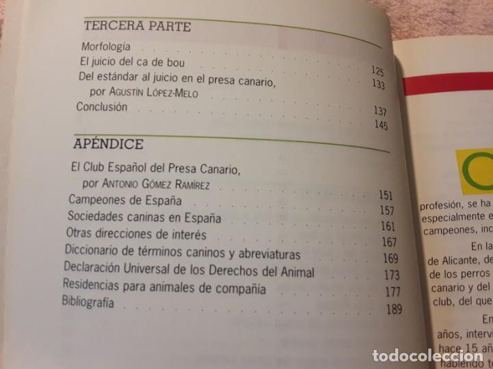 Libros de segunda mano: Dos libros sobre el perro presa canario. Manuel martin y Pascual asensi - Foto 5 - 241447735