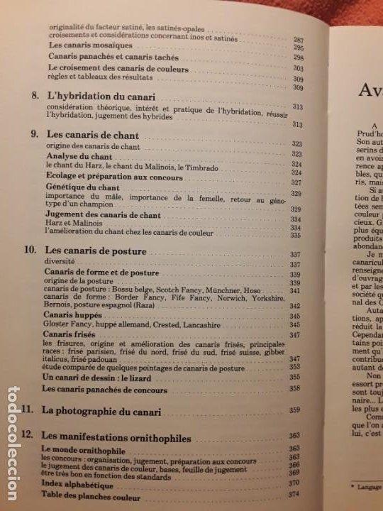 Libros de segunda mano: Le canari. Maurice Pomarede. Precis de canariculture (canarios, canaricultura) En francés - Foto 7 - 242001360