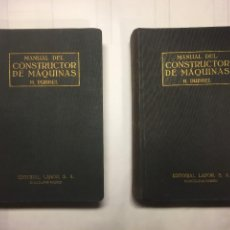 Libri di seconda mano: MANUAL DEL CONSTRUCTOR DE MÁQUINAS 2 VOL. 1969. Lote 243063535