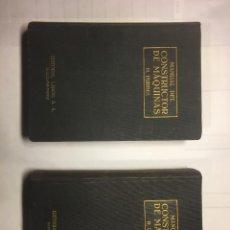 Libros de segunda mano de Ciencias: MANUAL DEL CONSTRUCTOR DE MÁQUINAS 2 VOL. 1969. Lote 243063535