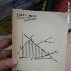 Libros de segunda mano de Ciencias: AMPLIACIÓN DE MATEMÁTICAS. L.24128. Lote 244203350