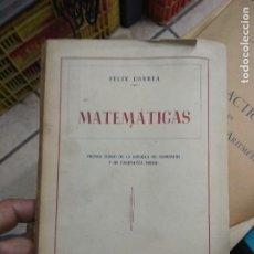 Libros de segunda mano de Ciencias: MATEMÁTICAS, FÉLIX CORREA. L.24131. Lote 244203810