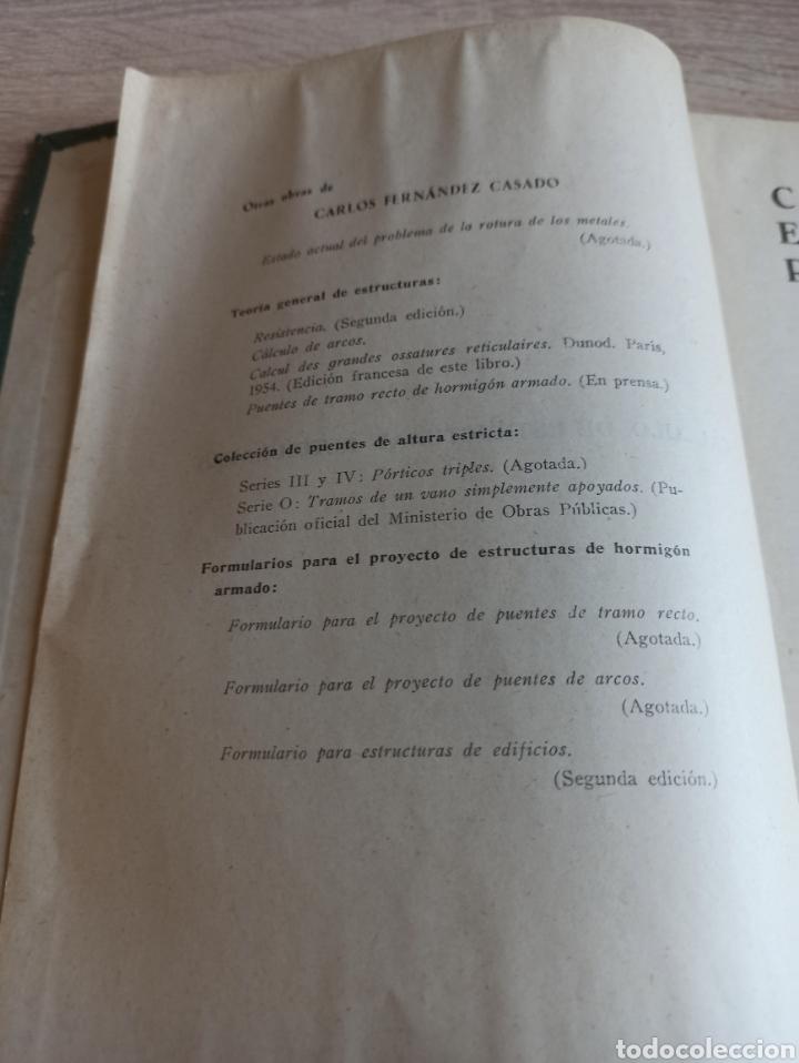 Libros de segunda mano de Ciencias: Cálculo de Estructuras Reticulares Carlos Fernández Casado Editorial Dossat Septima Edición 1958 - Foto 4 - 244713620