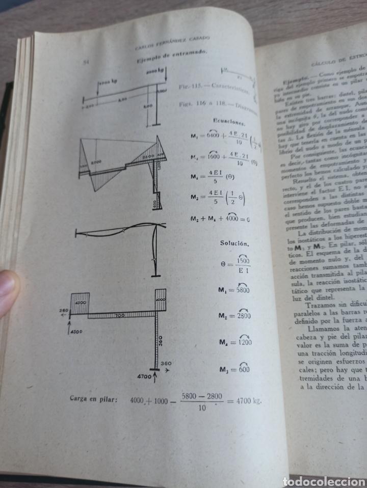 Libros de segunda mano de Ciencias: Cálculo de Estructuras Reticulares Carlos Fernández Casado Editorial Dossat Septima Edición 1958 - Foto 6 - 244713620