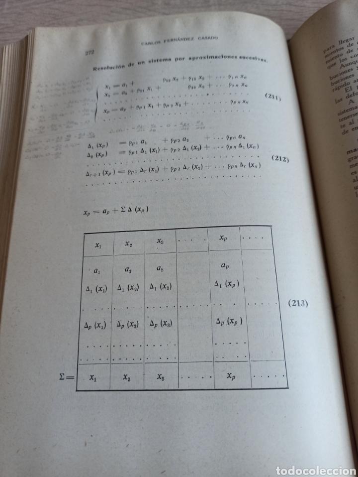 Libros de segunda mano de Ciencias: Cálculo de Estructuras Reticulares Carlos Fernández Casado Editorial Dossat Septima Edición 1958 - Foto 8 - 244713620